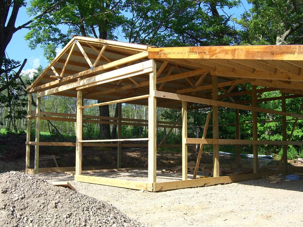 Adding A Lean To On A Pole Barn Part Ii Hansen Buildings
