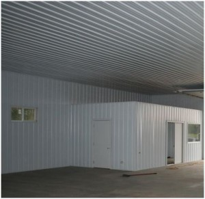 Steel liner panels Metal building interior wall finishing